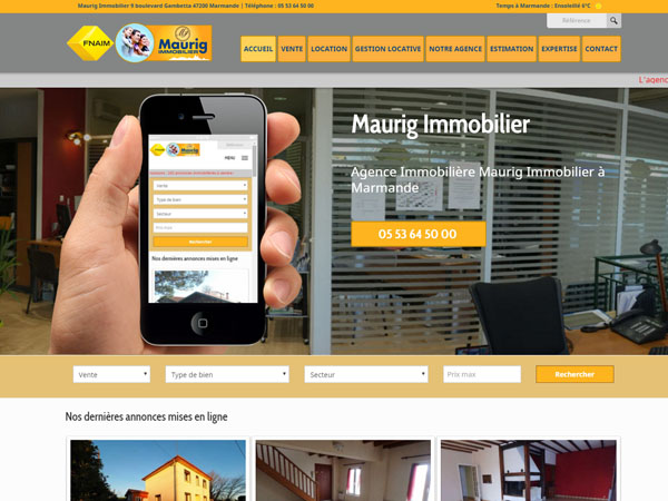 Site immobilier Maurig Immobilier