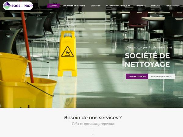 Création de site web pour Sogeprop
